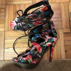 Floral print madden girl heels